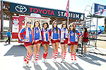FRISCO TX - OCTOBER 19:   Pre-Game FC Dallas Girls,Toyota Signage - FC Dallas vs Seattle Sounders FC at Toyota Stadium, Frisco TX in Denton on October 19, 2013 in Frisco, Texas. (Photo by Rick Yeatts)