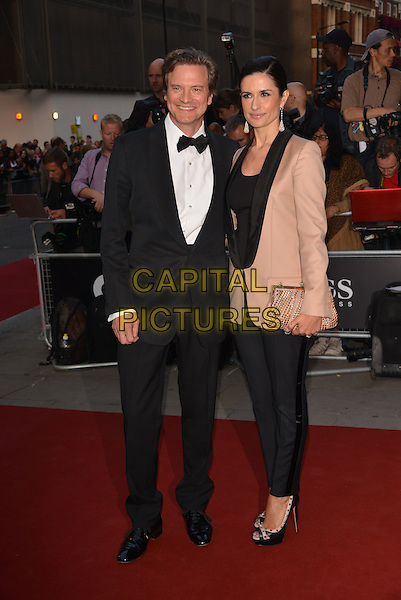 LONDON, ENGLAND SEPTEMBER 02: Colin Firth and wife, Livia attend the GQ Men of the Year 2014 awards in association with Hugo Boss at The Royal Opera House on September 2, 2014 in London, England.<br /> CAP/PL<br /> &copy;Phil Loftus/Capital Pictures
