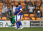 Nicky Law's shot beats Tim Howard for the Motherwell goal