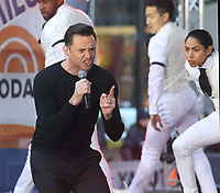 NEW YORK, NY - DECEMBER 4: Hugh Jackman performs on NBC's Today Show promoting his World Tour in New York City on December 4, 2018. Credit: John Barrett/PHOTOlink /MediaPunch<br /> CAP/MPI/PHL/JB<br /> &copy;JB/PHL/MPI/Capital Pictures
