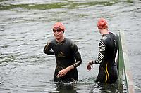 20180501 - DOORNIK , BELGIUM : Triathletes pictured during The Belgian Championship Team Triathlon Man and Women , a Team Triathlon in Doornik , Tuesday 1 st May 2018 , PHOTO SPORTPIX.BE | STIJN AUDOOREN