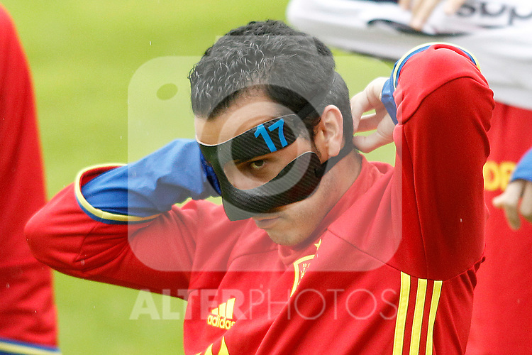 Spain's Pedro Rodriguez during preparing training stage to Euro 2016. May 30,2016.(ALTERPHOTOS/Acero)
