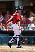 Erie Seawolves catcher Grayson Greiner (51) during a game against the Altoona Curve on July 10, 2016 at Jerry Uht Park in Erie, Pennsylvania.  Altoona defeated Erie 7-3.  (Mike Janes/Four Seam Images)