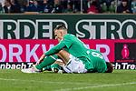 02.11.2019, wohninvest WESERSTADION, Bremen, GER, 1.FBL, Werder Bremen vs SC Freiburg<br /> <br /> DFL REGULATIONS PROHIBIT ANY USE OF PHOTOGRAPHS AS IMAGE SEQUENCES AND/OR QUASI-VIDEO.<br /> <br /> im Bild / picture shows<br /> Maximilian Eggestein (Werder Bremen #35) und Yuya Osako (Werder Bremen #08) am Boden nach Zweikämpfen, <br /> <br /> Foto © nordphoto / Ewert