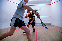 Action from the AIMS Games squash at Blake Park in Mount Maunganui, New Zealand on Wednesday, 12 September 2018. Photo: Dave Lintott / lintottphoto.co.nz