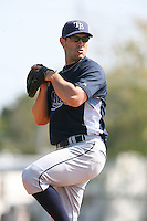 March 19th 2008:  Jeff Kamrath of the Tampa Bay Devil Rays minor league system during Spring Training at the Raymond A. Naimoli Complex in St. Petersburg, FL.  Photo by:  Mike Janes/Four Seam Images