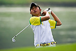 Chuanlin Jian of China tees off during the 2011 Faldo Series Asia Grand Final on the Faldo Course at Mission Hills Golf Club in Shenzhen, China. Photo by Raf Sanchez / Faldo Series