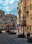 Zielona Góra (woj. lubuskie), 20.07.2013. Ulica Kupiecka w Zielonej Górze.
