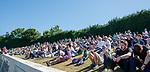30.06.18 Linlithgow Rose v Hibs: Hibs fans enjoying the weather at Prestonfield Park