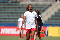 Cary, North Carolina  - Sunday May 21, 2017: Casey Short prior to a regular season National Women's Soccer League (NWSL) match between the North Carolina Courage and the Chicago Red Stars at Sahlen's Stadium at WakeMed Soccer Park. Chicago won the game 3-1.