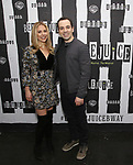 Kerry Butler and Rob McClure attends Broadway's 'Beetlejuice' - First Look Photo Call at Subculture  on February 28, 2019 in New York City.