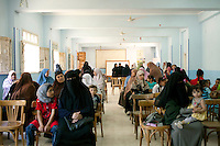 Women arrive at the school in Al Saf village for a meeting organized by the Muslim Sisters. Egypt, June 13th, 2012.