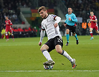 Timo Werner (Deutschland Germany) stolpert über den Ball - 16.11.2019: Deutschland vs. Weißrussland, Borussia Park Mönchengladbach, EM-Qualifikation DISCLAIMER: DFB regulations prohibit any use of photographs as image sequences and/or quasi-video.