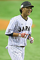 Hayato Sakamoto (JPN), <br /> NOVEMBER 15, 2014 - Baseball : <br /> 2014 All Star Series Game 3 between Japan 4-0 MLB All Stars <br /> at Tokyo Dome in Tokyo, Japan. <br /> (Photo by Shingo Ito/AFLO SPORT)[1195]