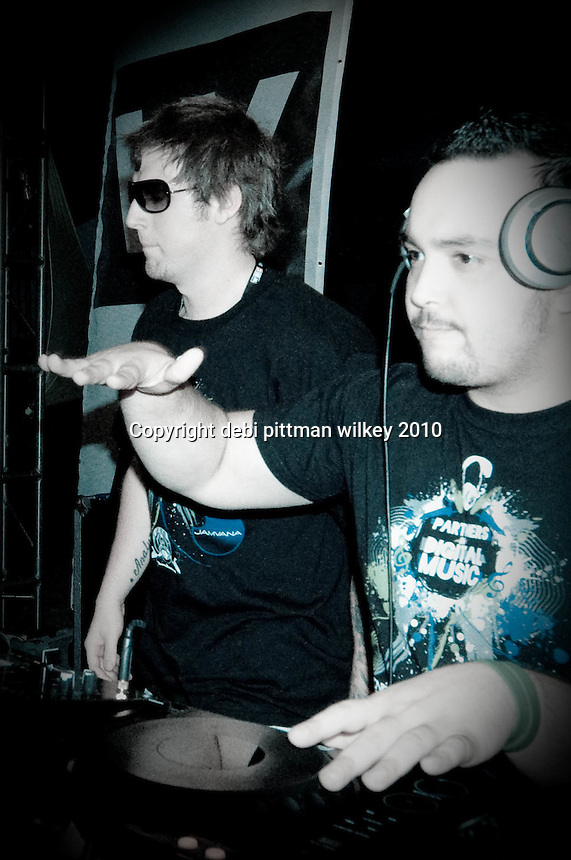 The 25th Annual Winter Music Conference kick-off event featuring Viro & Rob Analyze, with Joe Meltdown pumping up the crowd at the Edon Roc in South Beach, Florida, March 23, 2010. Photo by Debi Pittman Wilkey