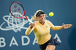 August 1, 2019: Donna Vekic (CRO) in action where she defeated Victoria Azarenka (BLR) 6-4, 6-3 in the second round of the Mubadala Silicon Valley Classic at San Jose State in San Jose, California. ©Mal Taam/TennisClix/CSM