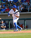 Chicago Cubs Adron Chambers (40) during a spring training game against the San Diego Padres on March 9, 2015 at Sloan Park in Mesa, AZ. The Padres beat the Cubs 6-3.
