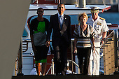 United States President Barack Obama walks with first lady Michelle Obama, Commander of the Pacific Fleet, Admiral Robert F. Willard and his wife Donna WIllard walk up the ramp to the entrance of the U.S.S. Arizona Memorial on Thursday, December 29, 2011 in Pearl Harbor, Hawaii.  .Credit: Kent Nishimura / Pool via CNP