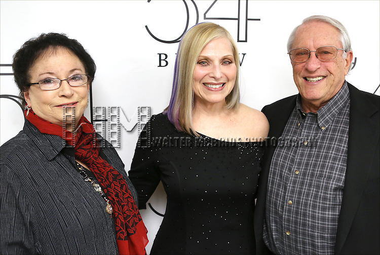 "Steven Baruch (main partner of 54Below) and his wife, Eda with Roslyn Kind backstage before performing her new show ""It's Been a While""  at 54 Below on April 6, 2014 in New York City."