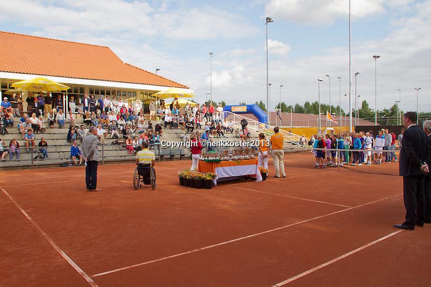 10-08-13, Netherlands, Rotterdam,  TV Victoria, Tennis, NJK 2013, National Junior Tennis Championships 2013,  Prize giving<br /> <br /> Photo: Henk Koster