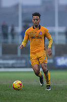 Jazzi Barnum-Bobb of Newport County during the abandoned Sky Bet League 2 match between Newport County and Morecambe at Rodney Parade, Newport, Wales on 10 December 2016. Photo by Mark  Hawkins.