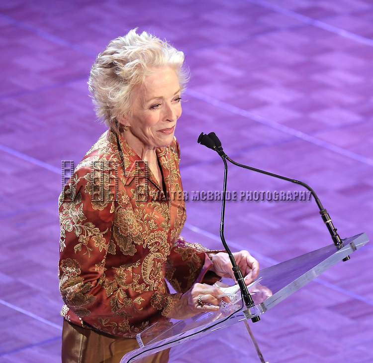 Holland Taylor  during the presentation of the 2013 Actors Fund Annual Gala honoring Robert De Niro at the Mariott Marquis Hotel in New York on 4/29/2013...