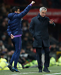 Tottenham Hotspur's Manager Jose Mourinho (R) reacts during the Premier League match at Old Trafford, Manchester. Picture date: 4th December 2019. Picture credit should read: Darren Staples/Sportimage