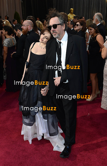 Tim Burton and Helena Bonham Carter arriving for the 85th Academy Awards at the Dolby Theatre, Los Angeles.
