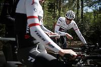 Ryder Hesjedal (CAN/Trek-Segafredo) at the pre-Giro TT-training ride with Team Trek-Segafredo in Gelderland (The Netherlands)<br /> <br /> 99th Giro d'Italia 2016