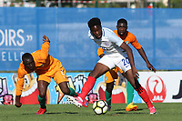 Ike Ugbo of England in action during England Under-18 vs Ivory Coast Under-20, Toulon Tournament Final Football at Stade de Lattre-de-Tassigny on 10th June 2017