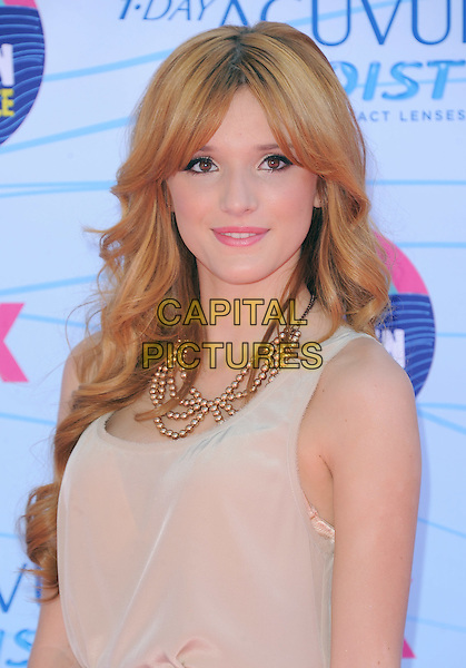 Bella Thorne.FOX's 2012 Teen Choice Awards held at The Gibson Ampitheatre in Universal City, California, USA..July 22nd, 2012.headshot portrait beige sheer sleeveless top necklace .CAP/RKE/DVS.©DVS/RockinExposures/Capital Pictures.