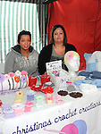 Georgina Mooney and Christina Parkinson pictured with their stall at the street market in Ardee as part of the Turfman festival. Photo: www.colinbellphotos.com