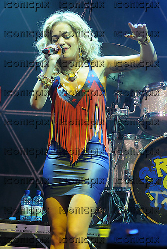 RITA ORA performing live on Day Two on the Arena Stage at the V Festival 2012 held in Hylands Park Chelmsford Essex UK - 19 Aug 2012.  Photo credit: Ben Rector/IconicPix