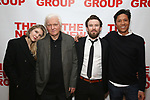 "Lily Rabe, David Rabe, Michael Rabe, Jason Rabe attends The New Group presents the New York Premiere Opening Night of David Rabe's for ""Good for Otto"" on March 8, 2018 at the Green Fig Urban Eatery,  in New York City."