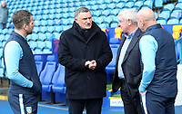 Blackburn Rovers manager Tony Mowbray  &amp; Sheffield Wednesday manager Steve Bruce catch up before kick off<br /> <br /> Photographer David Shipman/CameraSport<br /> <br /> The EFL Sky Bet Championship - Sheffield Wednesday v Blackburn Rovers - Saturday 16th March 2019 - Hillsborough - Sheffield<br /> <br /> World Copyright &copy; 2019 CameraSport. All rights reserved. 43 Linden Ave. Countesthorpe. Leicester. England. LE8 5PG - Tel: +44 (0) 116 277 4147 - admin@camerasport.com - www.camerasport.com