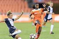 Houston, TX - Saturday July 15, 2017: Estelle Johnson and Nichelle Prince during a regular season National Women's Soccer League (NWSL) match between the Houston Dash and the Washington Spirit at BBVA Compass Stadium.