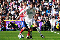 Real Madrid's Daniel Carvajal (r) and Atletico de Madrid's Antoine Griezmann during La Liga match. April 8,2018. (ALTERPHOTOS/Acero) /NortePhoto NORTEPHOTOMEXICO