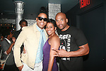 "BJ Coleman, Zuri McDaniels and Darryl ""D.M.C."" Matthews McDaniels Attend Vivica A. Fox Hosts Private Celebration for the 31st Birthday of Publicist BJ Coleman and the Launch of www.burgersandbourbon.com Sponsored by Pisco Portón,  at The Marcel Hotel's Polar Lounge,  8/25/11"