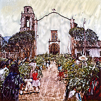 Easter celebration at a church in rural Mexican village.<br />