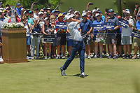 Jordan Spieth (USA) watches his tee shot on 1 during round 1 of the AT&amp;T Byron Nelson, Trinity Forest Golf Club, at Dallas, Texas, USA. 5/17/2018.<br /> Picture: Golffile | Ken Murray<br /> <br /> <br /> All photo usage must carry mandatory copyright credit (&copy; Golffile | Ken Murray)