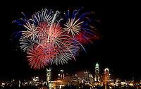 Uptown/Downtown Charlotte Skyline Fireworks 2009