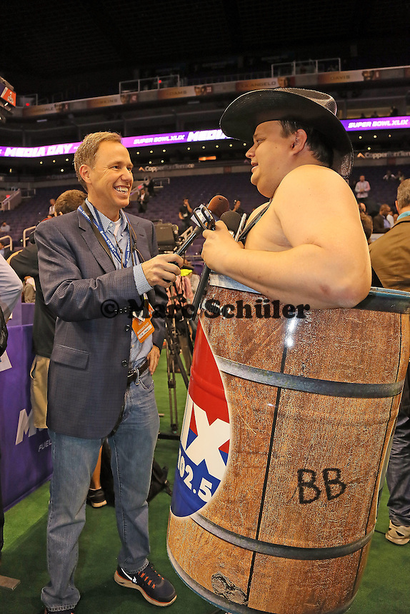 Barrellboy vom lokalen Radiosender - Super Bowl XLIX Media Day, US Airways Center, Phoenix