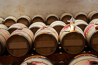 cleaning barrels by burning sulphur ch lafite rothschild pauillac medoc bordeaux france