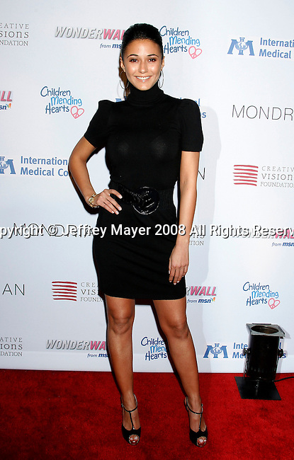 WEST HOLLYWOOD, CA. - February 18: Actress Emanuelle Chriqui arrives at the Children Mending Hearts Gala at the House Of Blues on February 18, 2009 in Los Angeles, California.