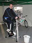 Deputy Mayor of Drogheda Richie Culhane taking part in the cyclethon in aid of St Johns Ambulance. Photo: Colin Bell/pressphotos.ie