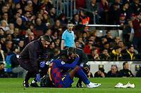 27th November 2019; Camp Nou, Barcelona, Catalonia, Spain; UEFA Champions League Football, Barcelona versus Borussia Dortmund;  Dembele is injured - Editorial Use