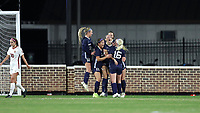 CHAPEL HILL, NC - NOVEMBER 29: Maycee Bell #25 of the University of North Carolina celebrates scoring the game-winning goal with teammates during a game between University of Southern California and University of North Carolina at UNC Soccer and Lacrosse Stadium on November 29, 2019 in Chapel Hill, North Carolina.