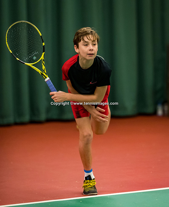 Wateringen, The Netherlands, December 1,  2019, De Rhijenhof , NOJK 12 and16 years, Mees Röttgering (NED)<br /> Photo: www.tennisimages.com/Henk Koster