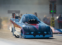 Oct 12, 2018; Concord, NC, USA; NHRA funny car driver Jonnie Lindberg during qualifying for the Carolina Nationals at zMax Dragway. Mandatory Credit: Mark J. Rebilas-USA TODAY Sports
