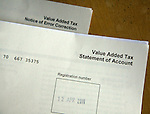 UK government VAT tax forms detail statement of account letter
